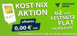 Weekend Kost Nix Aktion! O2- und Festnetzflat mit Homezone von Talkline!