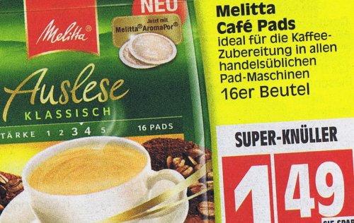 [ EDEKA ] Melitta Cafe Pads 1,49€  /// 1 von 5 Film-DVDs für Pads-Käufer!   für 2,98€