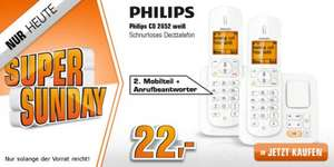 [Saturn Super Sunday] PHILIPS CD2852W (Schnurloses DECT Telefon 2er Set + AB) ab 22€