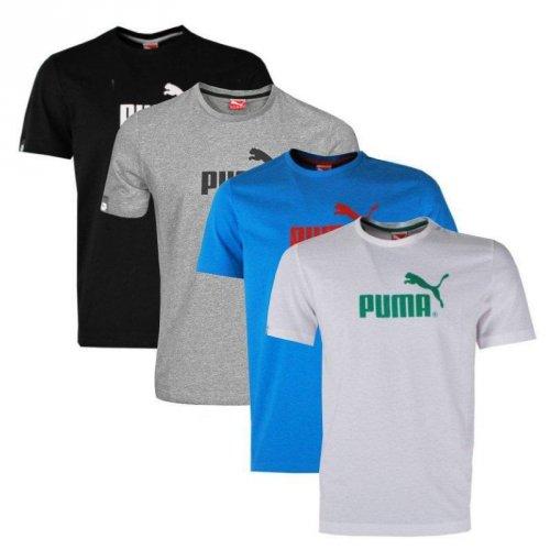Puma Herren T-Shirt Large No.1 Logo Tee weiß, blau, grau, schwarz für 14,99€ @Ebay