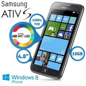 Samsung I8750 Ativ Saluminium-silver, 16GB + Zweithandy mit Duo Vertrag 99 €