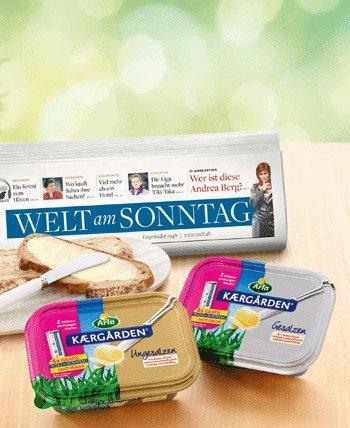 2 x Arla Kaergarden + 4 x Welt am Sonntag für 2,58€ bei Lidl