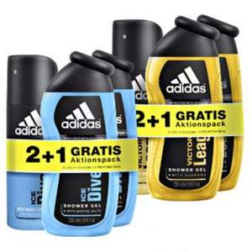 Adidas 2+1 Aktionspack: 2x Duschgel + 1x Deo für 3,99€ @Rossmann