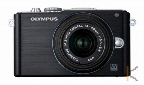 Olympus Pen E-PL3 + 14-42 mm II in schwarz