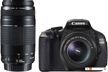 (Saturn) Canon Eos 600d + 18-55 + 75-300