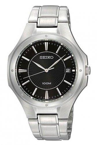 Mehr als 40% Ersparnis: Seiko Unisex-Armbanduhr Analog Quarz Edelstahl SGEF61