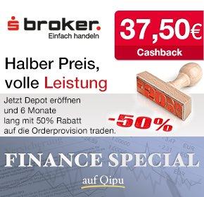 Qipu: 37,50€ Cashback für die Eröffnung eines Sparkassen Depots