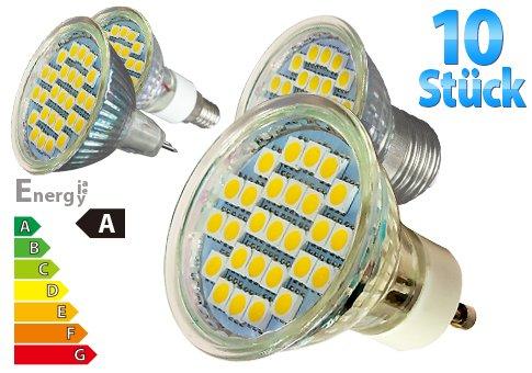 10x LED-Leuchtmittel, verschiedene Sockel, 480 Lumen bei Ebay