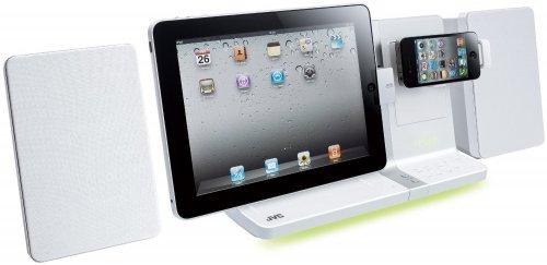 JVC UX-VJ5 Design Kompaktanlage mit Dock für Apple iPod/iPhone4/iPad (30 Watt, USB 2.0) für 137€ @Amazon.co.uk