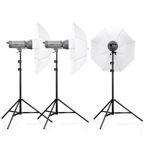 Preisfehler - 3 x Walimex Pro VC-600/600/600 mit Blitz, Schirm und Stativ für ~109 Euro (Normalpreis: 900 Euro+) @Amazon UK
