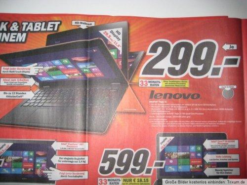 Lenovo IdeaPad Yoga 11 64GB 299.- aktueller  Media Markt Prospekt