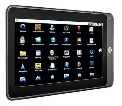 """7"""" Android 2.3 Tablet PC mit 1,2GHz und 512MB Arbeitsspeicher - Multitouch"""