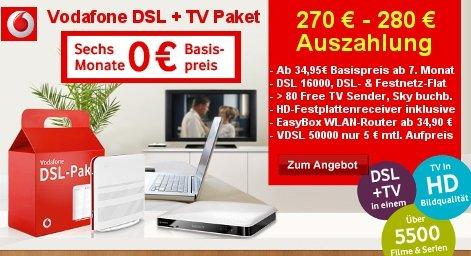 Vodafone DSL 16000 Doppel-Flat + Vodafone TV für 17,66€/Monat [obocom]