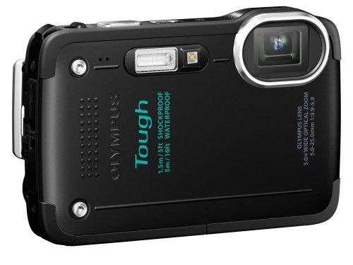 Olympus TG-630 Digitalkamera (12,7 Megapixel, 5-fach opt. Zoom, 7,6 cm (3 Zoll) LCD-Display, Full HD, Wasserdicht bis 5m) schwarz inkl. Vsk für ca. 151 €