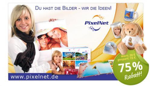 Dein personalisiertes Fotoprodukt bei pixelnet.de nur 5 statt 20 EUR