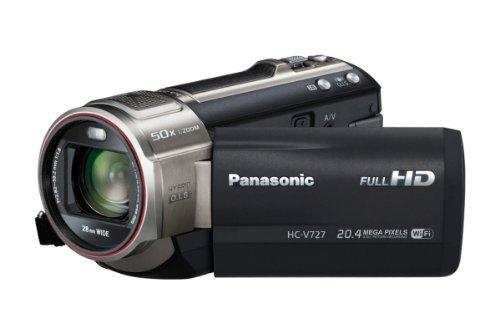 Panasonic HC-V727EG-K Camcorder mit Mikrofon (7,6 cm (3 Zoll) LCD-Display MOS-Sensor, 20,4 Megapixel Foto Auflösung , Full HD, 21-fach opt. Zoom, USB 2.0) schwarz. 399,00 € @getgoods.de