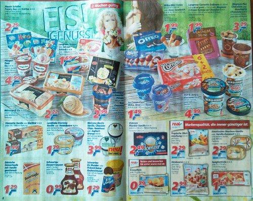 (real,-)  2 Wochen billiger Eis - u.a Ben & Jerry's, Hägen Dazz, Mövenpick... ab 05.08!