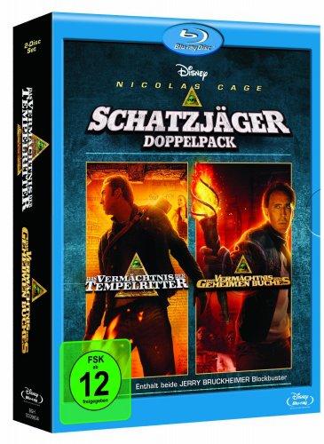 Das Vermächtnis der Tempelritter/Das Vermächtnis des geheimen Buches [Blu-ray] für 15,97€ @Amazon.de