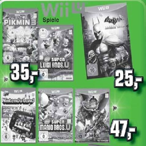 Pikmin 3 und New Super Luigi Bros für WiiU im Alphatecc