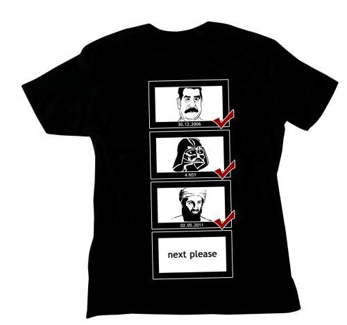 Fun-Shirt mit Osama, Saddam und Darth Vader auf eBay