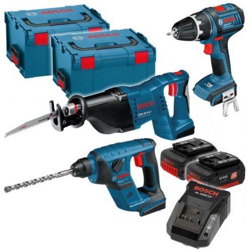 Bosch 18 Volt-Set 4-Tool Kit - 4 Geräte von Bosch blau für 479 - 6% Qipu 454,86 bei voelkner.de