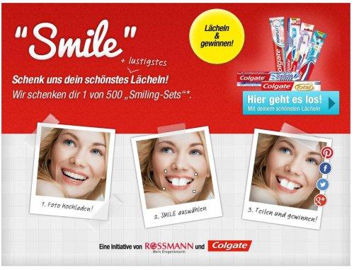 Rossmann und Colgate: SMILE – erhalte 1 von 500 Colgate Smiling-Sets