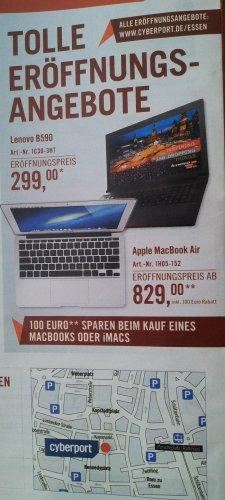 Lokal: €100 Rabatt auf Apple Macbook & iMac bei Cyberport Essen