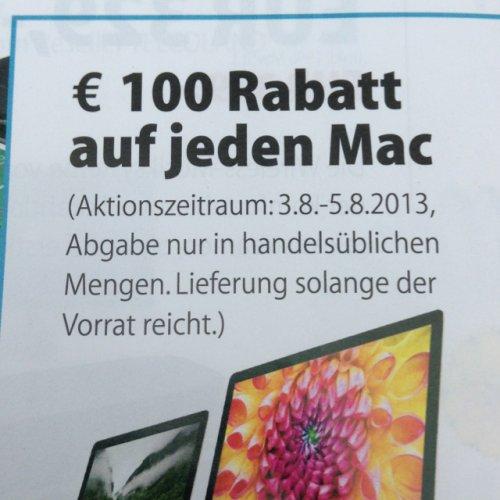 [Lokal Wolfsburg] 100€ auf jeden Mac