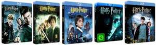 Harry Potter 1 - 6 als Blu Ray im Steelbook zu je 8,97 € @Amazon