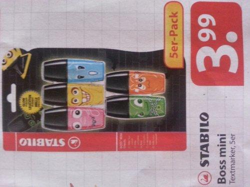 [OFFLINE] Stabilo Boss mini Textmarker im 5er Set für 3,99 € bei Famila