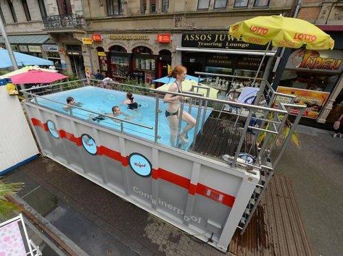 [Lokal in Karlsruhe] Pool in der Innenstadt für eine kühle Erfrischung zwischendurch bis 8.September