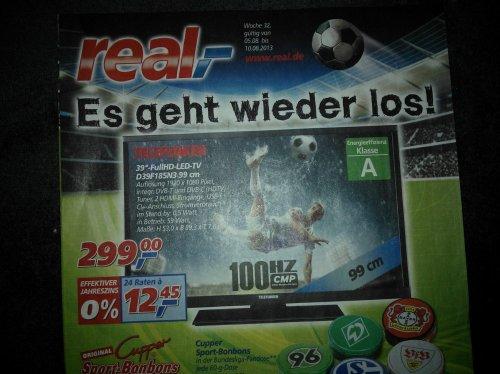 """Telefunken D39F185N3 39"""" FullHD LED TV für 299€ beim Real (im Markt)"""