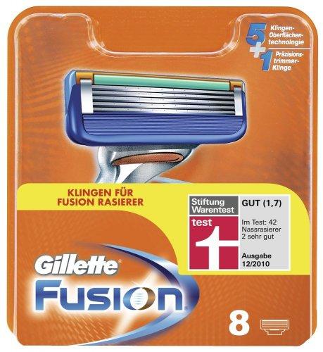 8 Gillette Fusion Klingen für nur 19,50 EUR inkl. Versand
