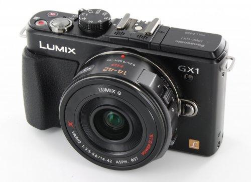 Panasonic Lumix DMC-GX1 schwarz mit 14-42 mm Power Zoom