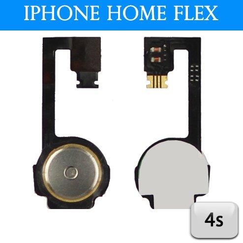 iPhone 4S Homebutton Flachbandkabel Flex Home Knopf inkl Versand 1€