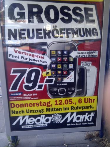 Samsung Galaxy 550 @Media-Markt Bochum für 79 Euro
