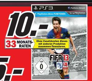 [ Media Markt Porta Westfalica ]  FIFA 13 (PS3)  10€  / Nintendo 3d XL 149€
