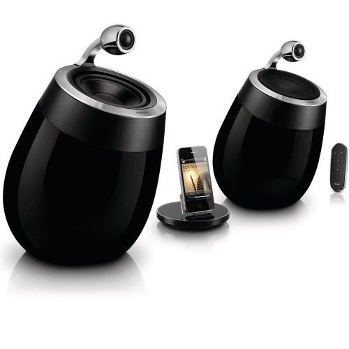 Philips Fidelio DS9800W SoundSphere AirPlay Speaker für iPad/iPhone (2x 50 W, AUX, mit Ladestation, WLAN) schwarz inkl. Vsk für ca. 468 € [Amazon.uk]