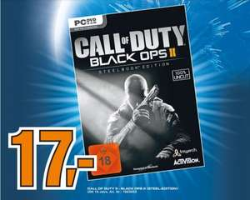 Call of Duty: Black Ops 2 Steelbook Edition im Saturn Halle-Saale für 17 Euro ( USK ab 18 )