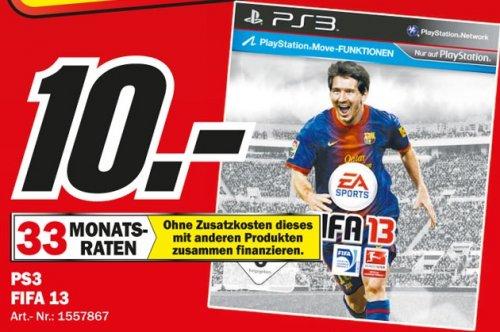 FIFA 2013 für PS 3 im Mediamarkt Paderborn für 10 Euro