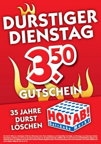 [Offline] Durstiger Dienstag bei HOL'AB (3,50 € Gutschein ab 35 € Einkaufswert*)