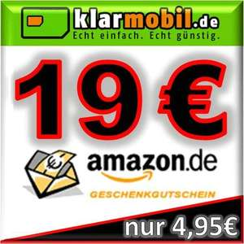 klarmobil SIM-Karte + 19,00€ AMAZON Gutschein kostenlos