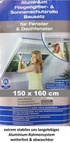 [eBay] 2in1 Kombirollo für Dachfenster Fliegengitter- & Sonnenschutzrollo B150 x L160cm (individuell kürzbar) nur 70€
