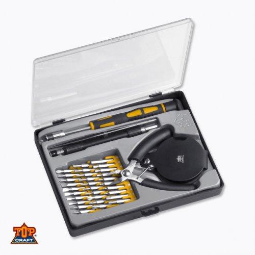 Top Craft™  36-tlg. Feinmechanikersatz (30 Bits,Zange,Pinzette,Lupe,...) für 6,99€ [@OFFLINE Aldi-Nord]
