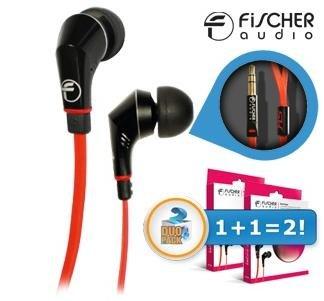 Fischer Audio   Red Stripe In-ears Duopack - Inline-Fernbedienung und Mikrofon für 25,90€