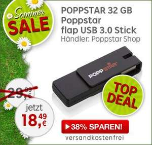 popp 32 GB Poppstar flap USB 3.0 Stick