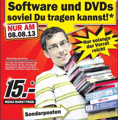 [ Media Markt Nienburg  + Media Markt Stadthagen ]  Software und DVDs soviel Du tragen kannst* ! NUR  am 8.08.13  /  Lexar 32GB JumpDrive S50 USB Flash Speicherstick 10€