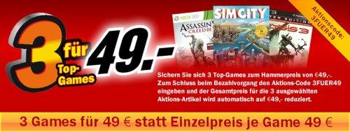 Media Markt 3 Games für 49 €