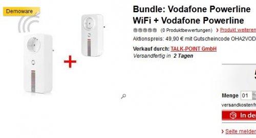 Vodafone Powerline WiFi + Vodafone Powerline 200er Dlan Powerline Demoware