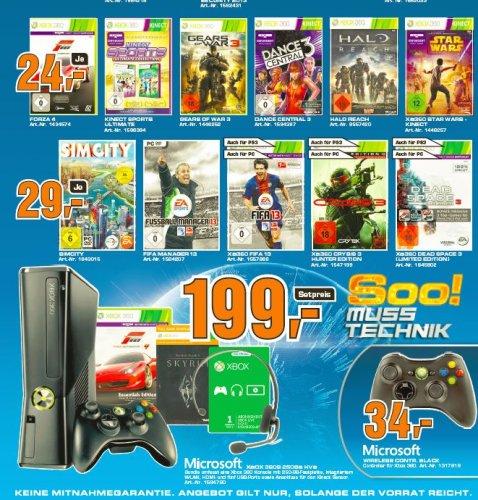 [Lokal] Koblenz:  Xbox 360 mit 250GB und 2 Spielen ( Skyrim und Forza 4)